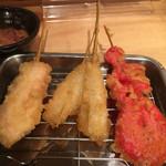 串天 - 天ぷら、紅生姜、キス、かしわ