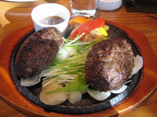 飯田橋 Dining Terrace 霜月好日 - 極旨ハンバーグのダブル~♪♪