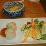 プロォーイ タイ料理 - Aセット(前菜、サラダ、スープ)