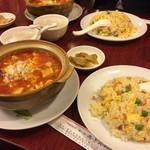 37868278 - 麻婆豆腐&チャーハン