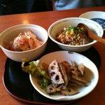 亀屋 - 前菜三種 メニューから自由に選べます