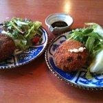 亀屋 - そら豆と里芋のコロッケ