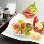 日本酒バル 方舟プラチナ  - 日本酒飲み比べ 前菜