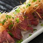 日本酒バル 方舟プラチナ  - 越後牛ローストビーフ