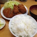 山家 上野店 - ひれかつ定食(大)1,180円