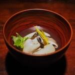 蕎麦懐石 無庵 - 牡蠣とかぶのそばがき椀