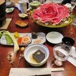 秩父いのしし亭 - いのしし鍋のコース