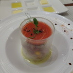 ビストロ ダイア - 国産グレープフルーツとフルーツトマトのガスパッチョ