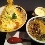 鉄兵衛 - 料理写真:あい盛り丼サービスセット