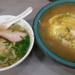 大養軒 - 天津丼570円+半ラーメン250円