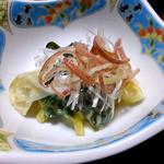 鯉川温泉旅館 - 夕食(イカとギョウジャニンニクのぬた)