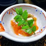 鯉川温泉旅館 - 夕食(ホヤの塩辛と生湯葉)