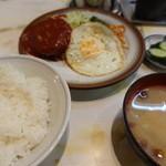 富士川食堂 - ハンバーグ定食