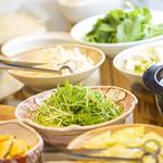 しゃぶらく - 常時25種以上の新鮮野菜!