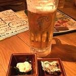 海風土 - 30分500円の飲み放題でビール(*^^)