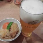 鉄兵 - お通しと生ビール