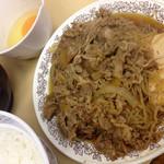 37899171 - 牛皿.玉子.みそ汁.ご飯 ¥820