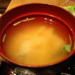 Genki-Dining 八百屋 - 八百屋御膳(1-10)味噌汁
