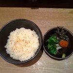 麺屋 武道 - 塩スープ茶漬けセット