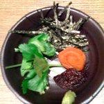 麺屋 武道 - 塩スープ茶漬けセット(薬味)
