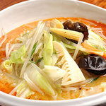 麗江 - マーラータンメン(上品な辛さの五目野菜そば)900円
