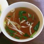 37910290 - グリーンカレーについてきたスープ