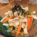 酔心酒蔵 - つぶ貝と大根のサラダ