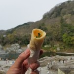 長瀞とガレ - 岩畳を見ながら軽く頂きます♪