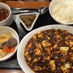 37914010 - 麻婆豆腐定食 夜950円 うま〜