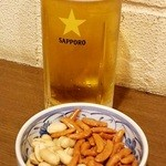 梅暦酒店 - 生ビールと柿ぴー