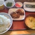 山形北町食堂 - 納豆定食350円。