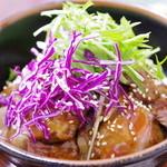 金澤屋牛肉店 - ランチステーキ丼(大)