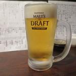 きはるの胡麻鯖や - 生ビール