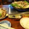 松尾ジンギスカン - 料理写真:ジンギスカン定食(マトン)+追加ラム+行者にんにく