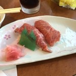 焼肉・音琴 - 肉にぎり  口の中でとろけていきました (*´ڡ`●)