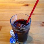 ハーレーパーク - 食後にアイスコーヒー、氷少なめでオーダー