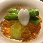 HAKATA OBANZAI FOODS 蓮 - 今回は日本酒をかなり頂いて、珍しい野菜の名前や生産地、料理名はほとんど覚えておりませんの。