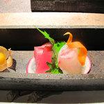 HAKATA OBANZAI FOODS 蓮 - 目で楽しむ♪ほおづきとお造り。