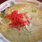 2代目哲麺 - 紅生姜の図