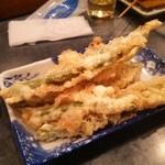 まさ爺とサスケの小さな居酒屋 - いんげん天ぷら