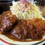 レストラン みよし - トンカツ定食、すんごいボリューム!