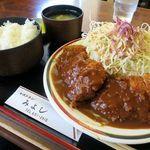 レストラン みよし - トンカツ定食880円