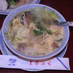 東栄酒家 - 野菜とたまごのスープ