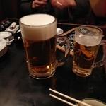 人生再生酒場 - 生ビール、メガと普通の。