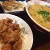 やまいし - 料理写真:ラーメン餃子生姜焼きライスのセット(@-@