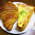 パン ド ロア - 料理写真:クロワッサン、クロックムッシュ