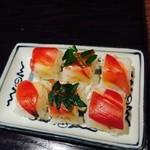 37952857 - 田舎寿司(ミョウガのお寿司)薄味でいいつまみです。