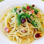 ア・ラーマ - 料理写真:キャベツとベーコンのペペロンチーノ