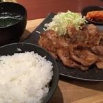 honkakuyakinikukangen - 山形豚のしょうが焼き定食
