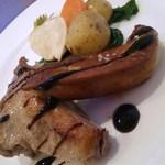 ナチュラルガーデン - 鴨もも肉のコンフィとフォワグラソテー、グリル野菜